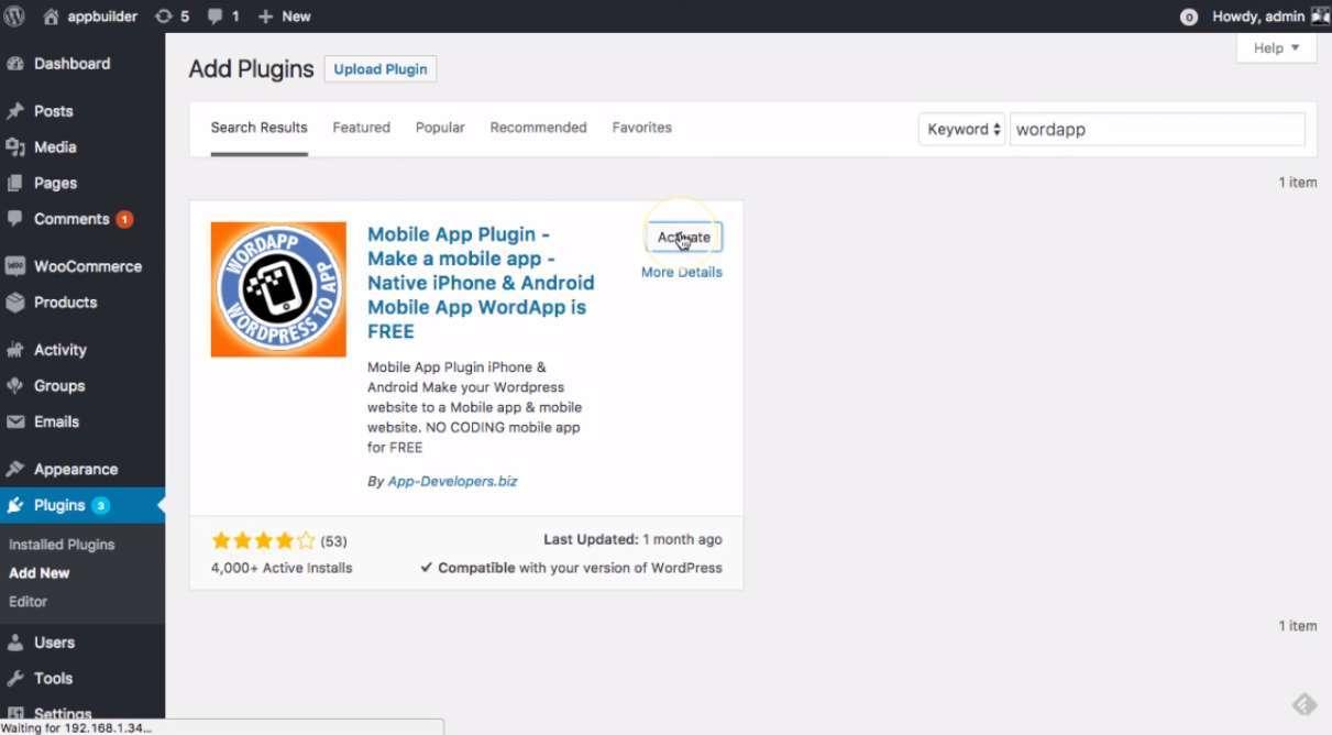 App Builder Plugin