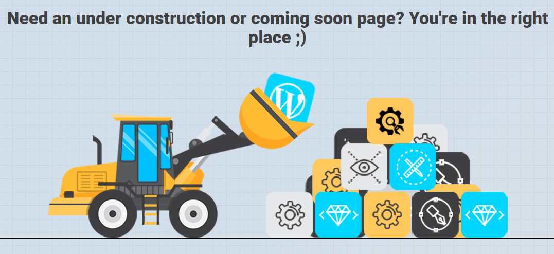 Under Construction Page: A plugin That Creates High Quality Maintenance Mode Page 1