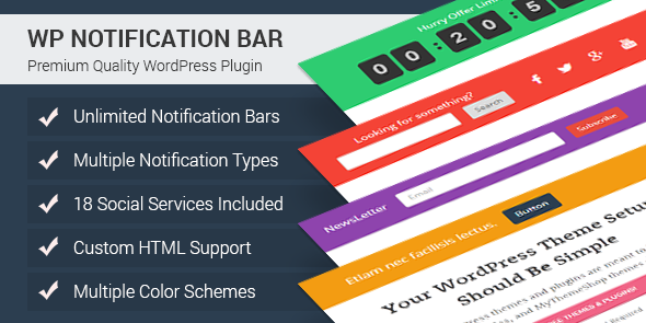 Notification Bar Plugin