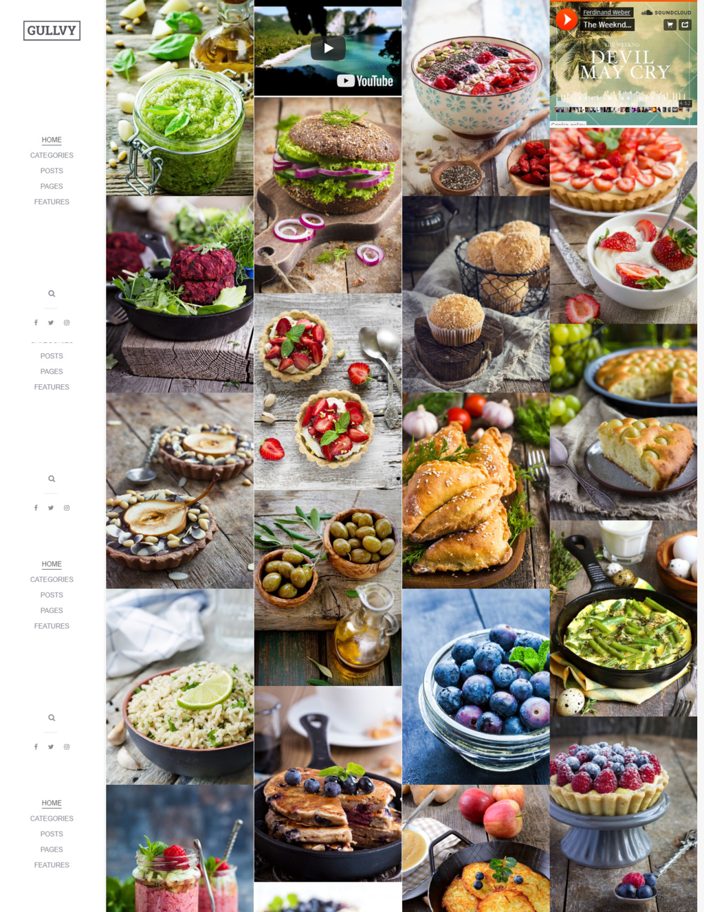 Food Blogging WordPress Theme