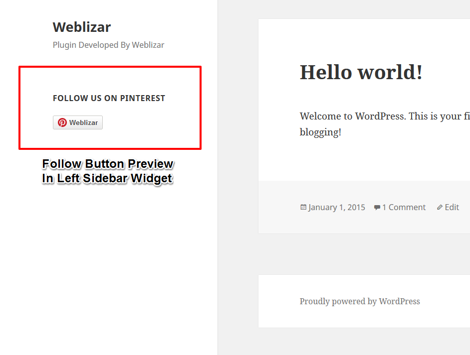 Pinterest Integration WordPress Plugin